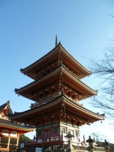Part of the Kiyomizu-dera temple complex in Kyoto