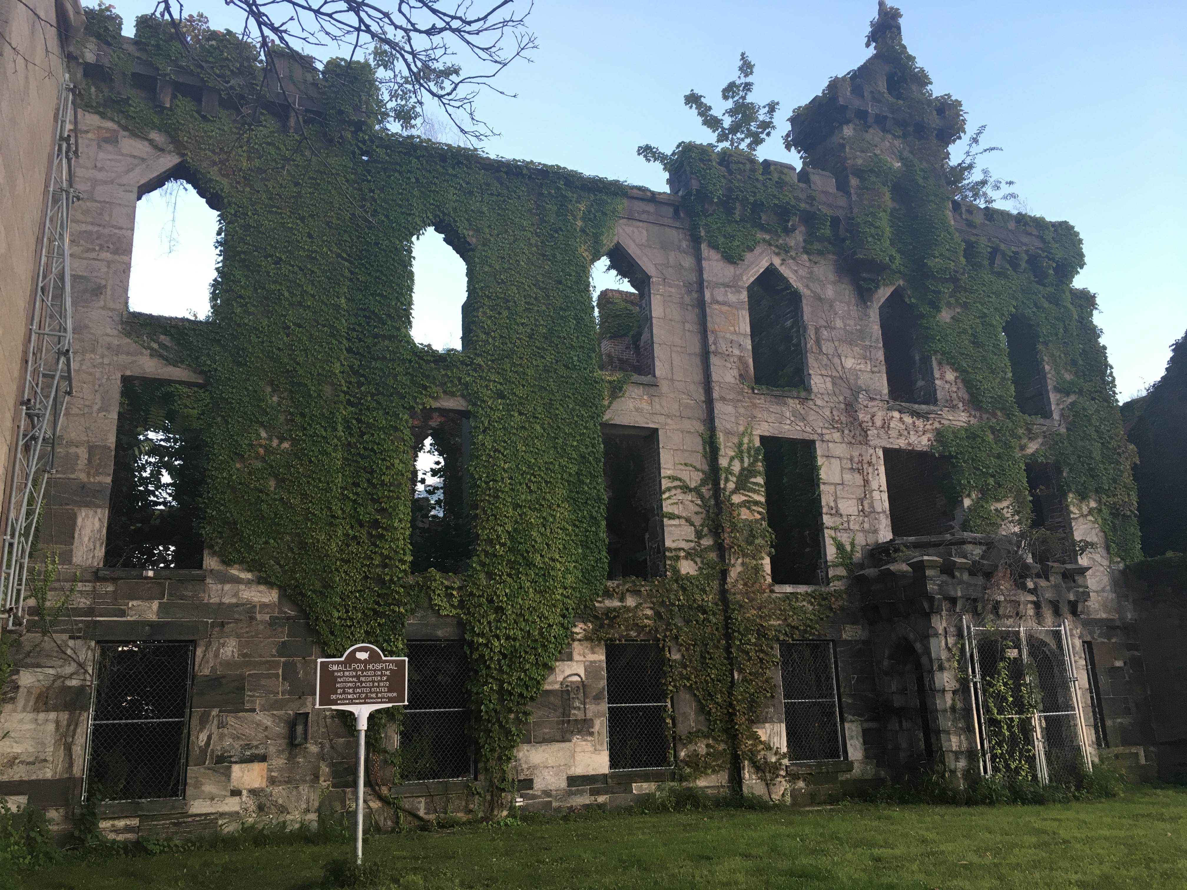 The smallpox hospital on the Island.