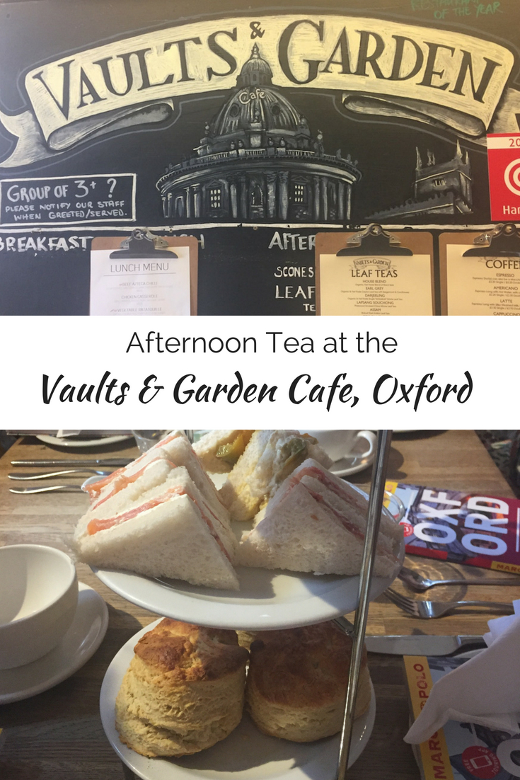 Afternoon Tea at the Vaults and Garden Café, Oxford
