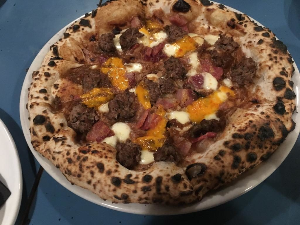 Eat deilcious pizza at Bertha's Pizza in Bristol's Whapping Wharf mymicrogap