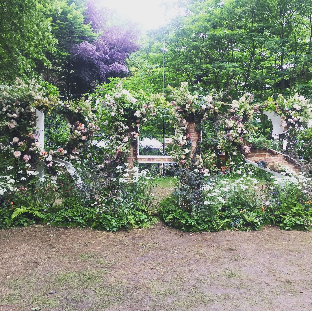 The RHS sign in flowers.