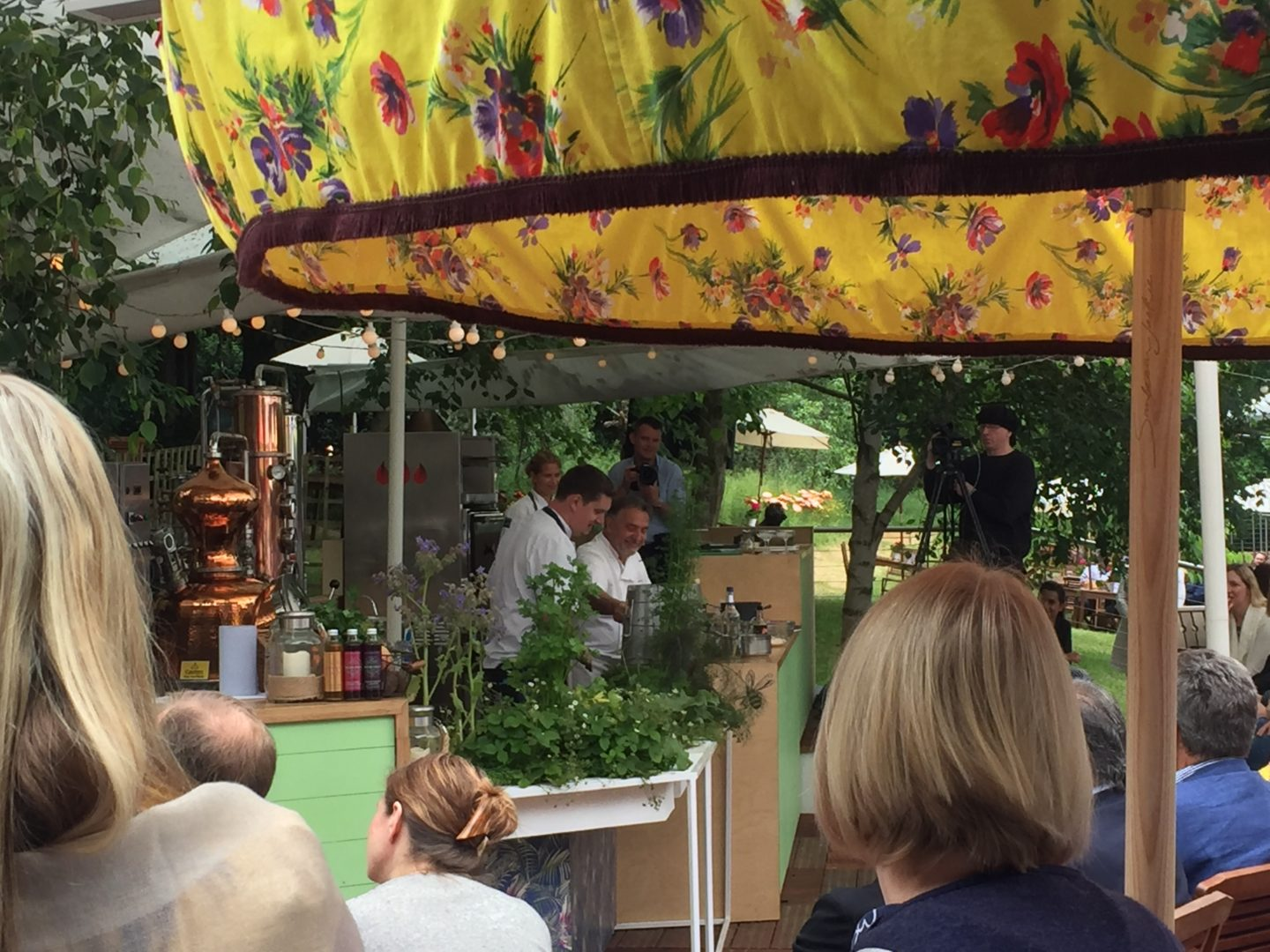 Raymond Blanc during the cooking demo.