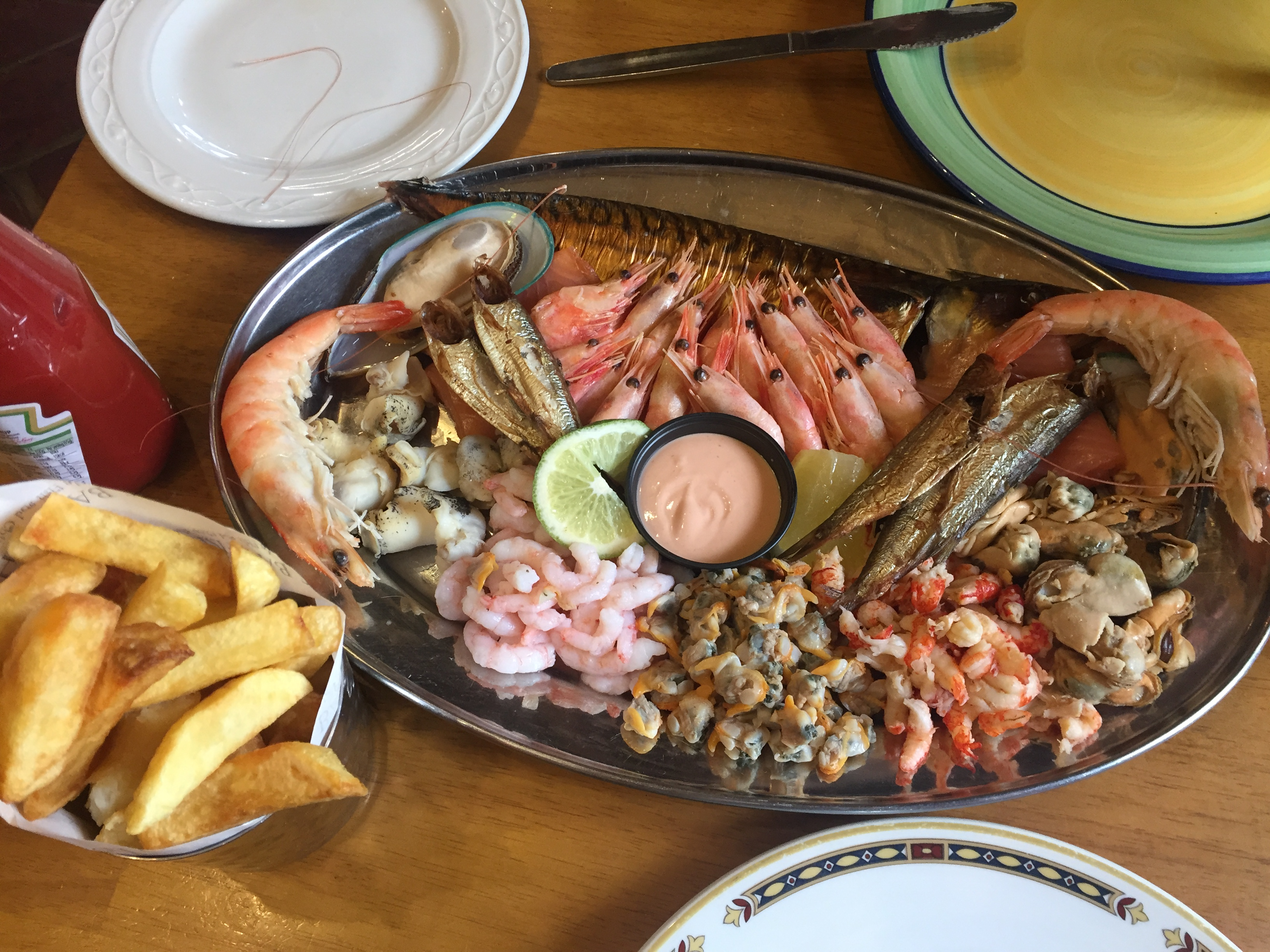 Our seafood feast at Sole Bay Fish Company.