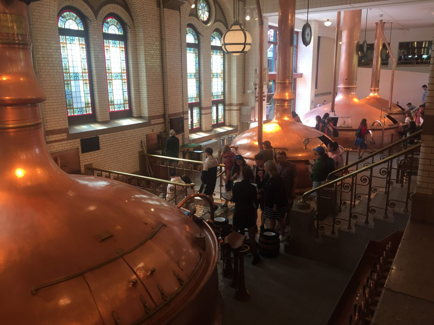 The copper distillers in the Heineken Museum