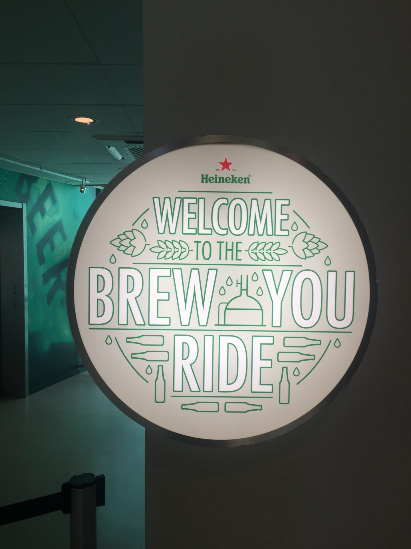 The Heineken Brew You ride's signs