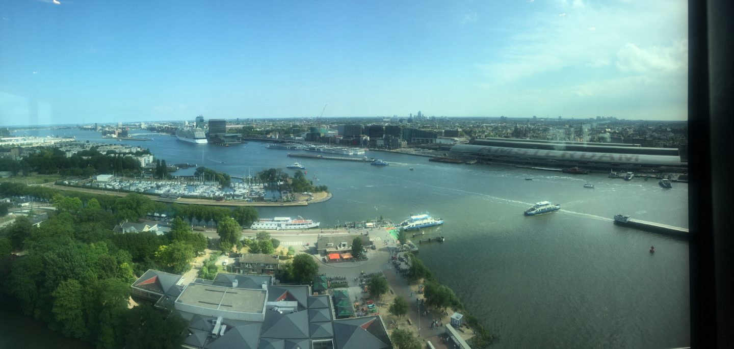 The view from the top of the A'DAM tower