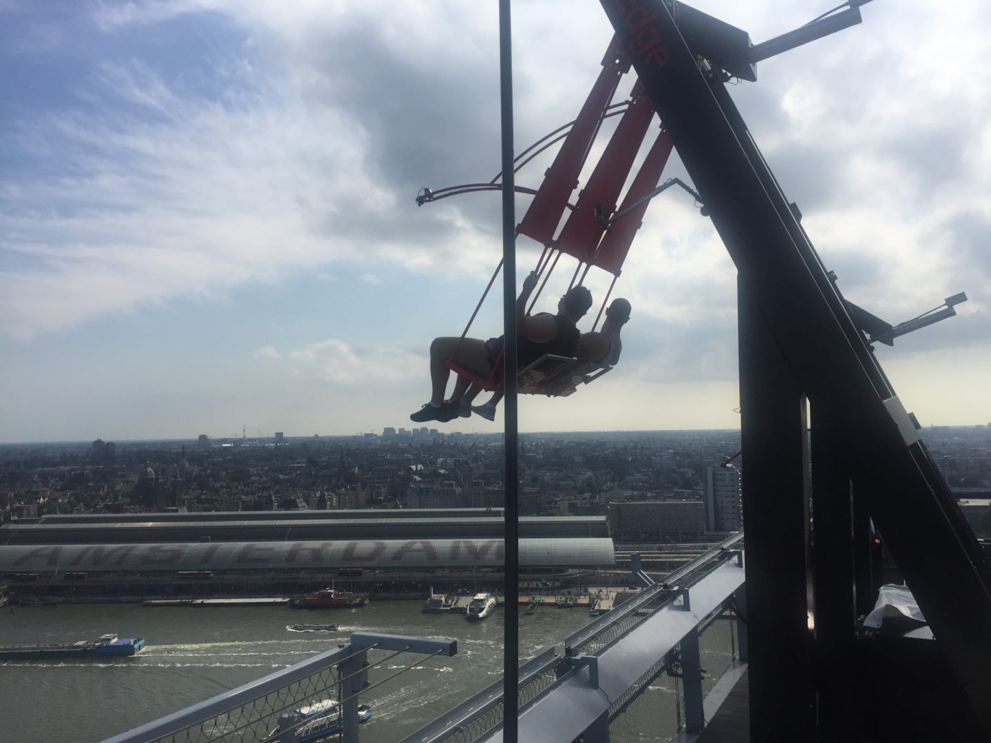 The swing at the top of the A'DAM tower
