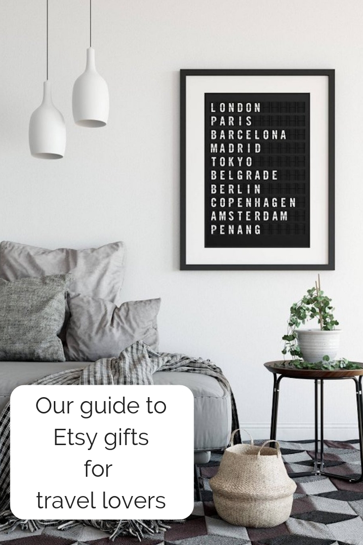 Guide to etsy gifts for travel lovers