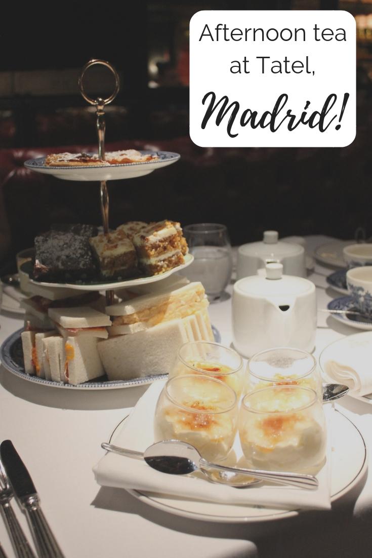 Tatel afternoon tea Madrid