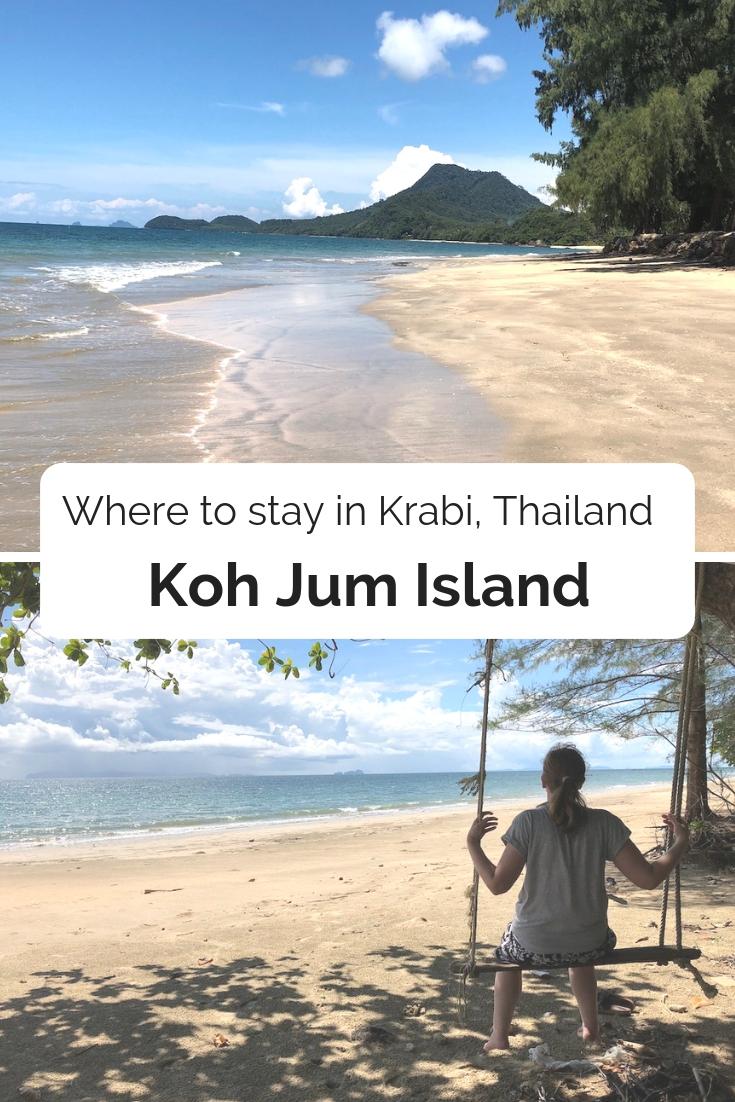 Koh Jum island Krabi Thailand pin