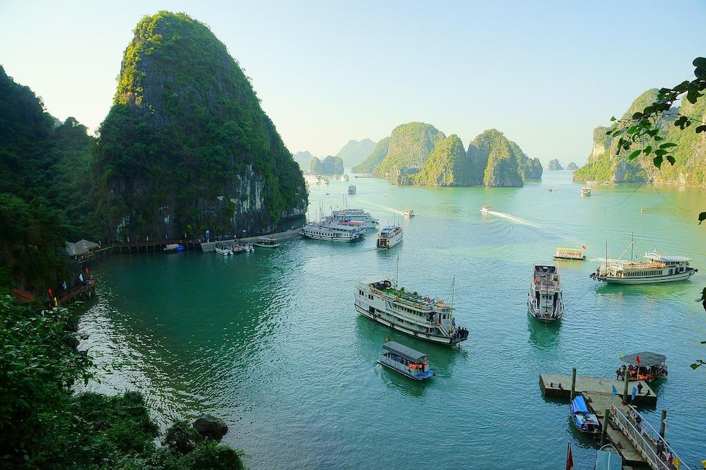 winter sun destinations - Halong Bay Vietnam