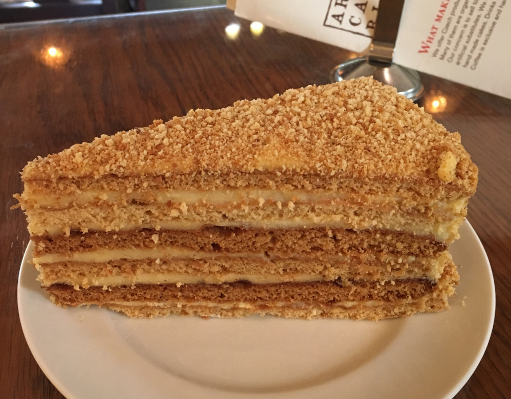 Medovník – Czech honey cake - 5 Must-Try Foods in Prague