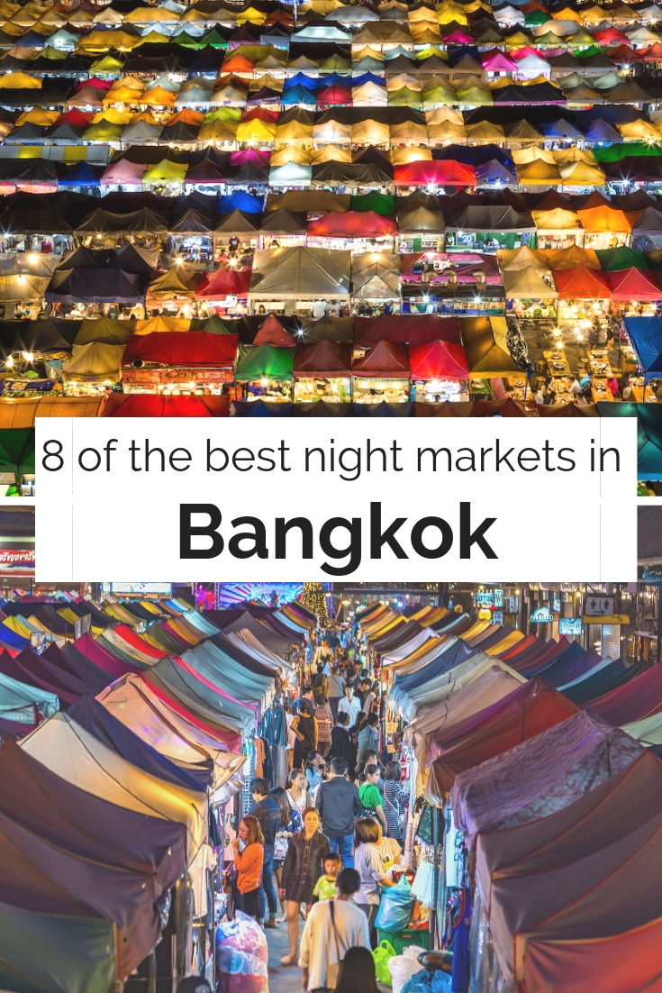 Best Night Markets in Bangkok | Ladies What Travel pin Image credit: Tourism Authority of Thailand (TAT)