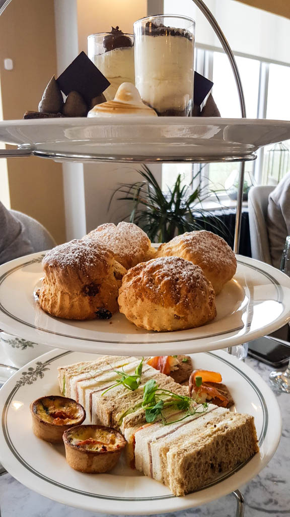Afternoon tea at Highbullen Hotel Laura Ashley Tea Room