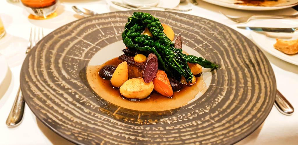 Fine dining at Highbullen