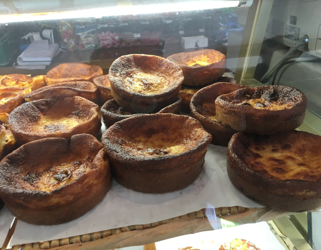 Far breton in a bakery