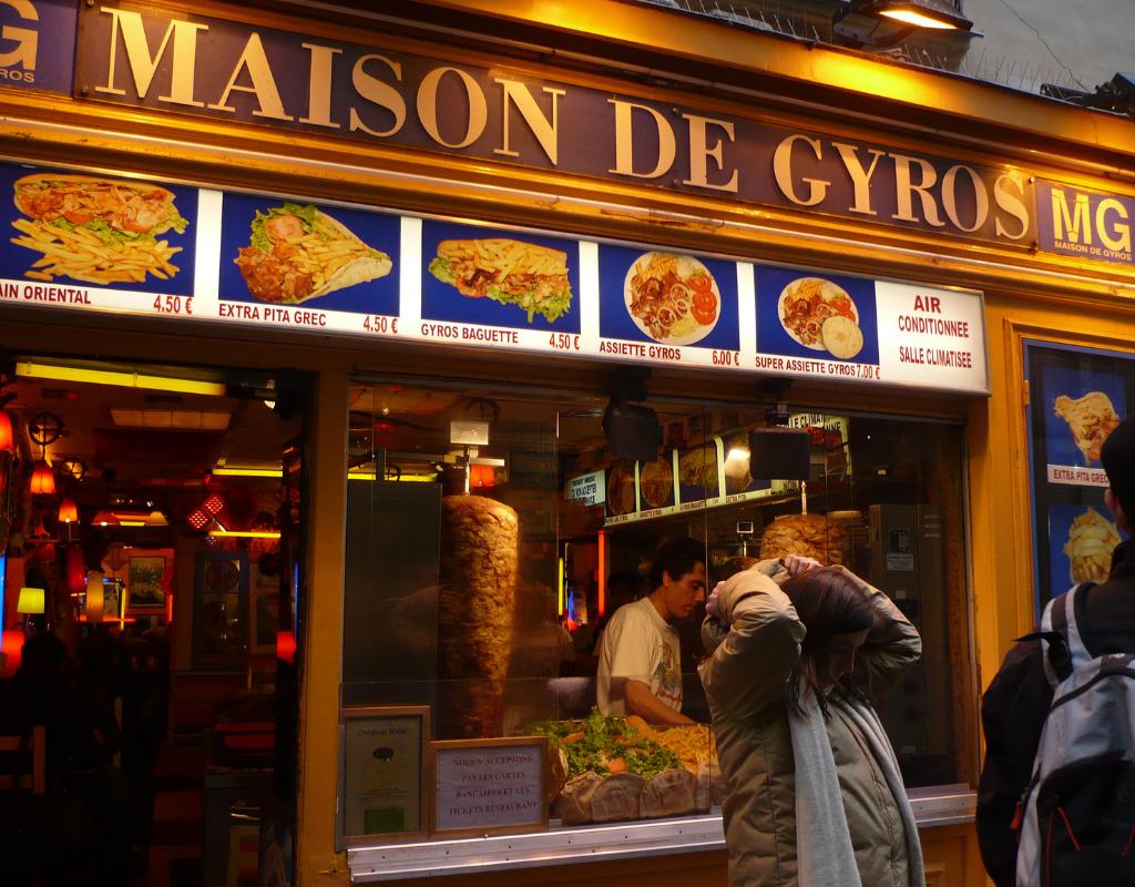 A day in Paris, Maison de gyros, lunch