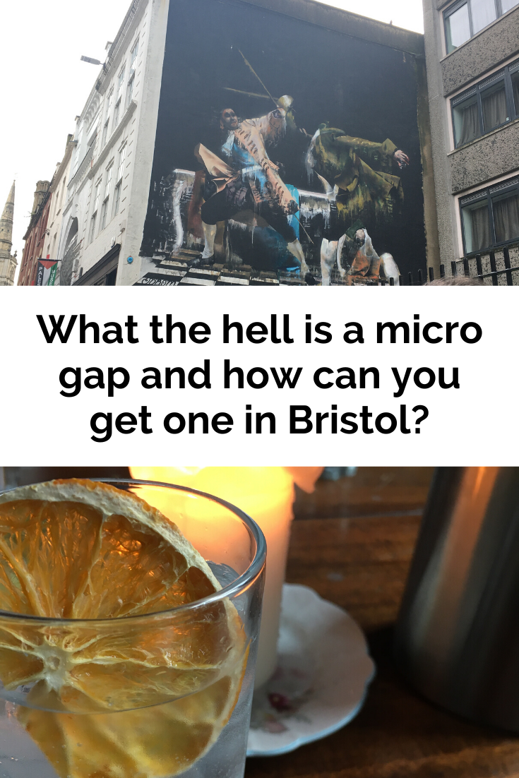 Drinks and street art in Bristol - get everything you need from a micro gap!