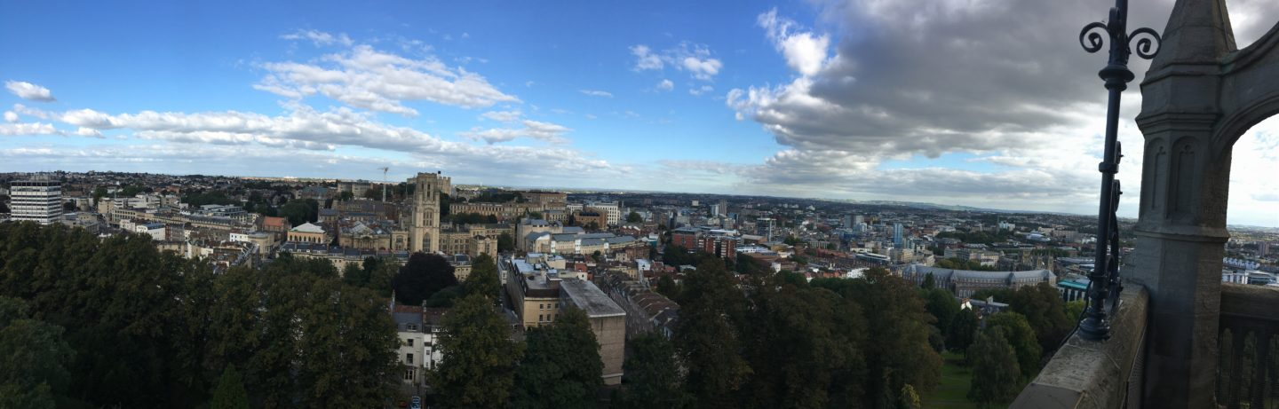 The view from Bristol's Cabot Tower mymicrogap