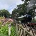 A steam train at Holt station on the North Norfolk Railway Poppy Line