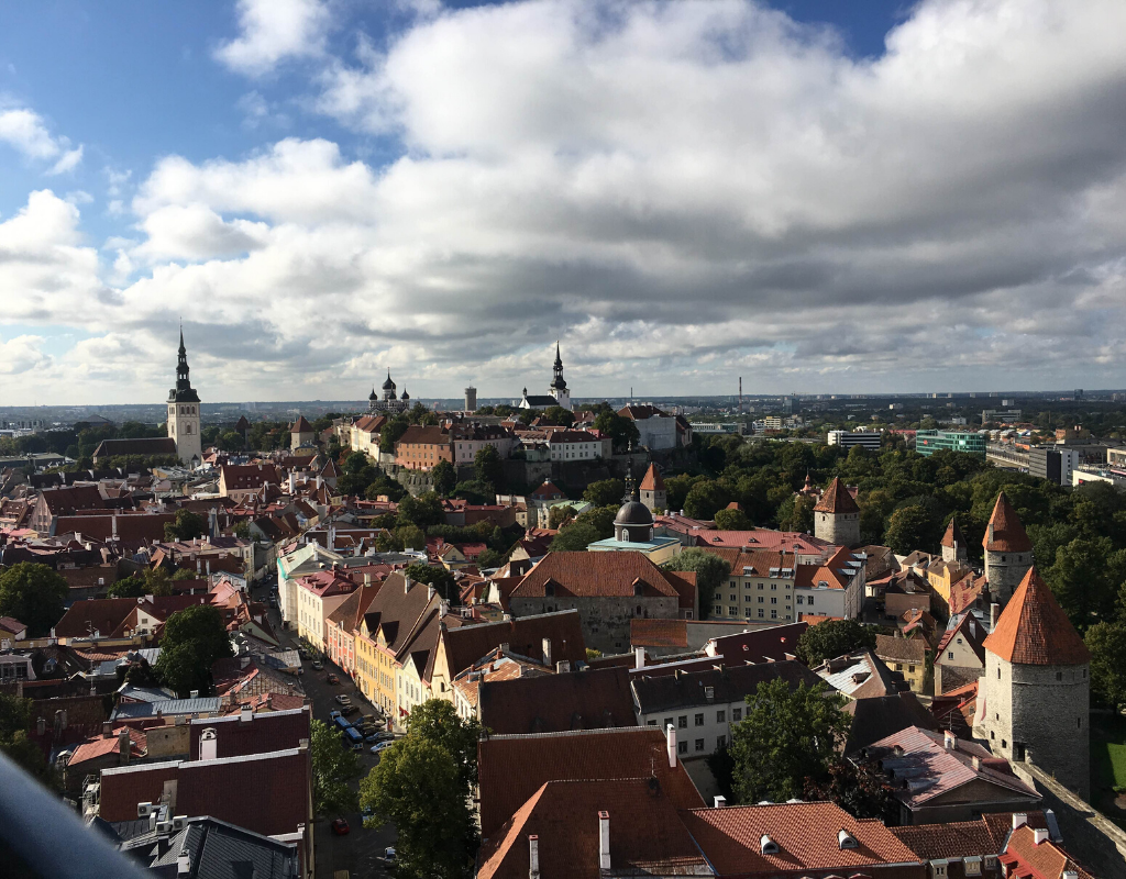 View from St Olav's Church tower Tallinn